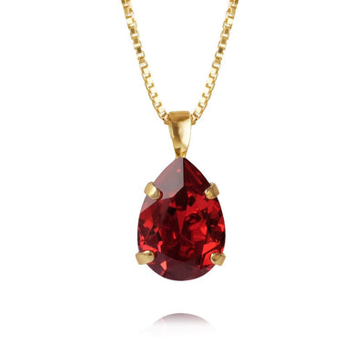 Caroline Svedbom - Mini Drop Necklace Scarlet Gold