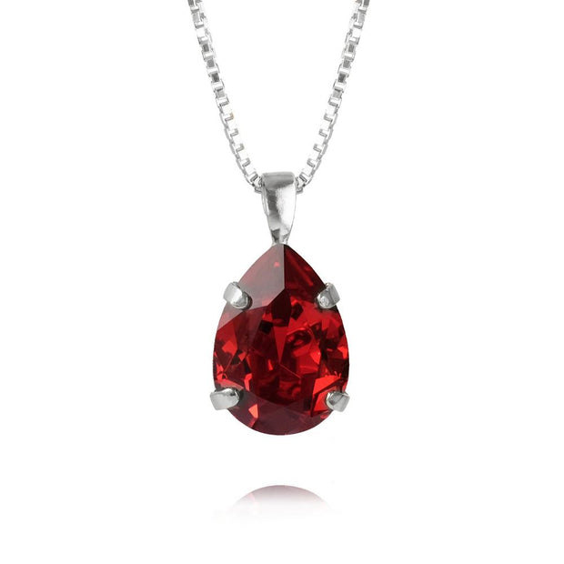Caroline Svedbom - Mini Drop Necklace Scarlet Rhodium