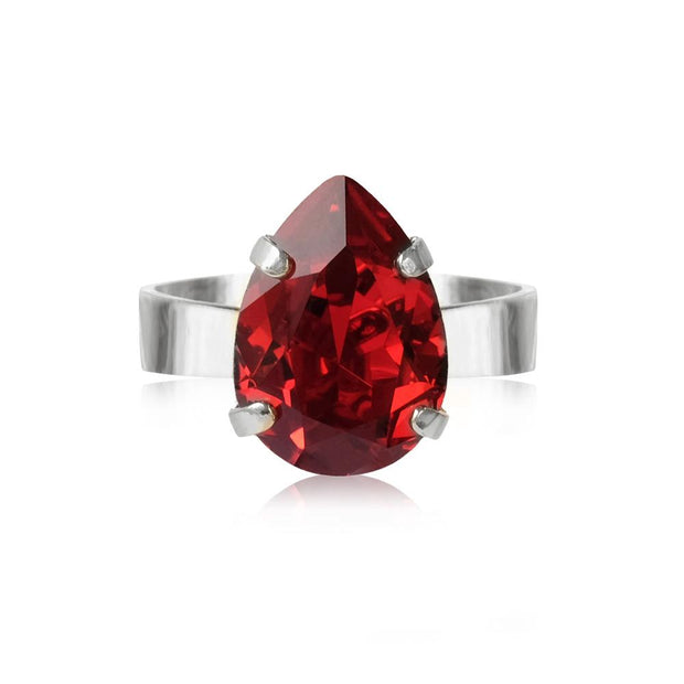 Caroline Svedbom - Mini Drop Ring Scarlet Rhodium