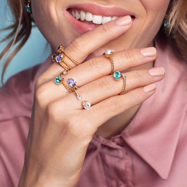 Niki Ring / Light Turquoise