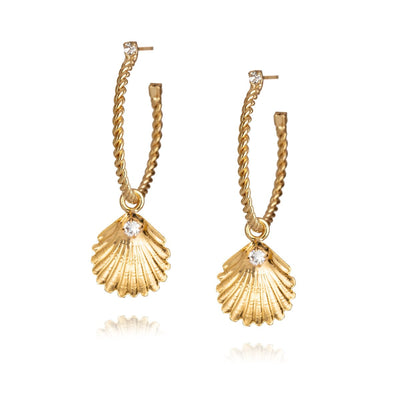 Caroline Svedbom - Nani Shell Earrings with Swarovski Crystal