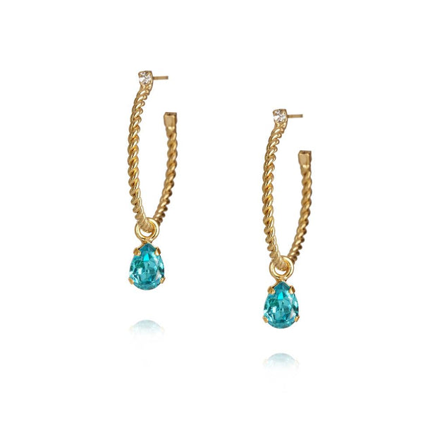 Caroline Svedbom - Nani Earrings / Light Turquoise Gold