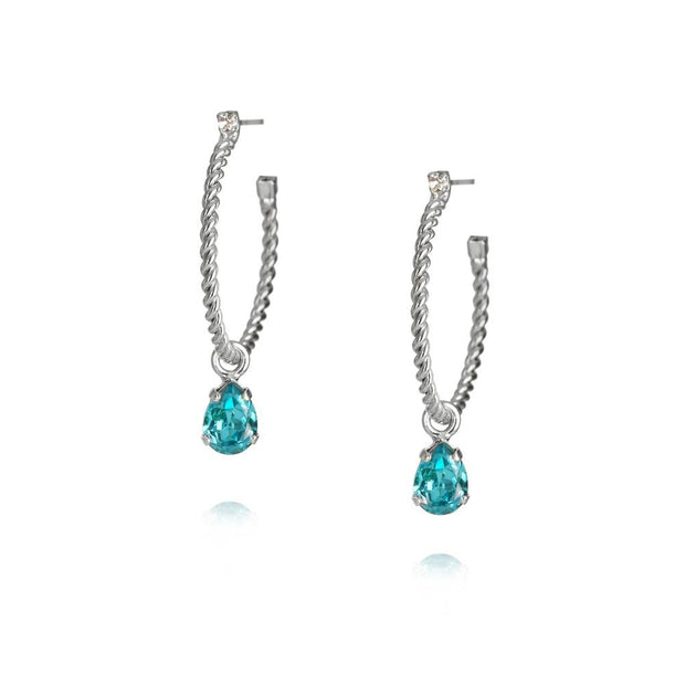 Caroline Svedbom - Nani Earrings / Light Turquoise Rhodium