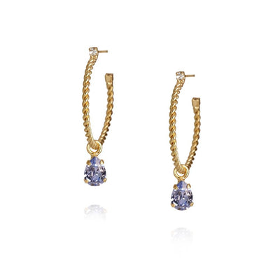 Caroline Svedbom - Nani Earrings / Provence Lavendel Gold