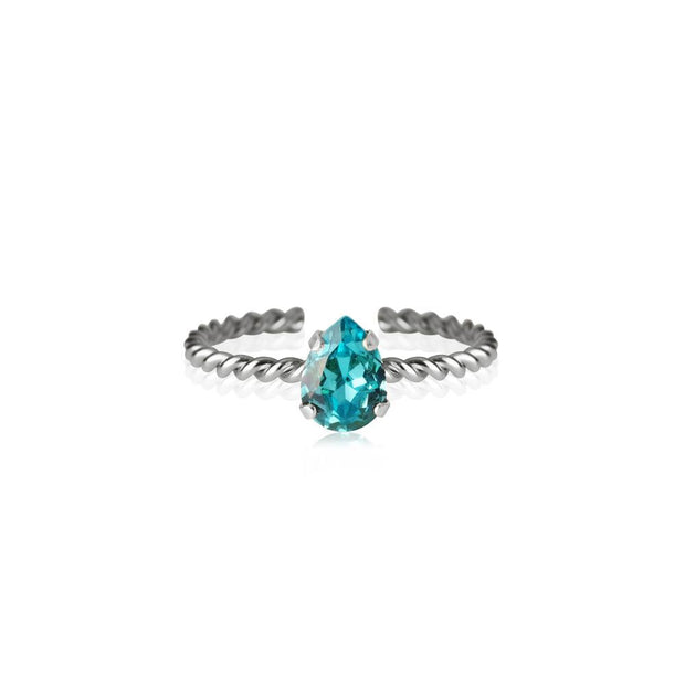 Caroline Svedbom - Niki Ring Light Turquoise Rhodium