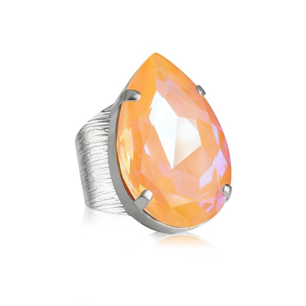 Caroline Svedbom - Perfect Drop Ring Peach Delite Rhodium