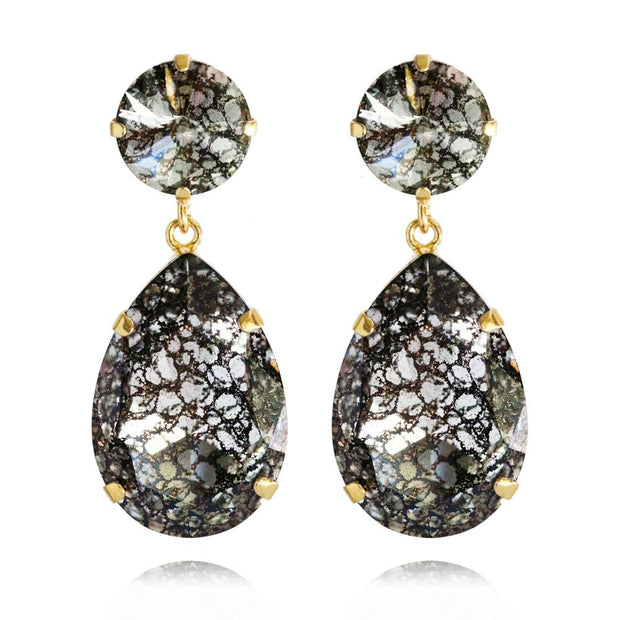 18k gold plated Drop Earrings with swarovski crystals