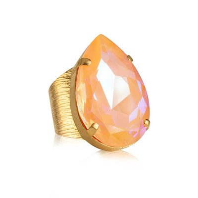Caroline Svedbom - Perfect Drop Ring Peach Delite Gold