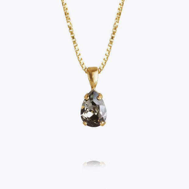 Petite Drop Necklace / Black Diamond