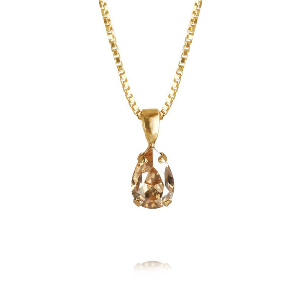 handmade 18k gold plated petite necklace with swarovski crystals