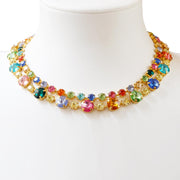 Caroline Svedbom - Pomona Necklace Rainbow Combo Gold