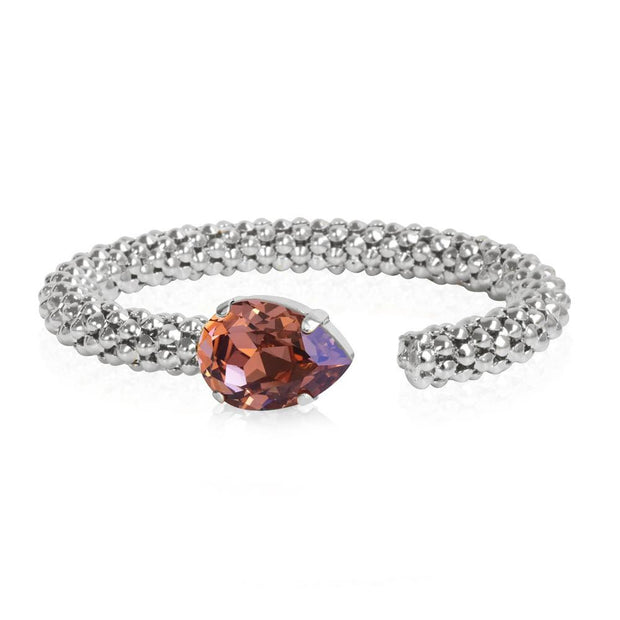 Rhodium plated Bracelet with swarovski crystals