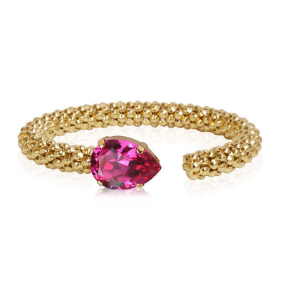 18k gold plated Bracelet with swarovski crystals