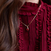 Mini Drop Necklace / Scarlet