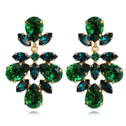 Selene Earrings / Dark Moss Green + Emerald