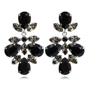 Selene Earrings / Jet + Black Diamond