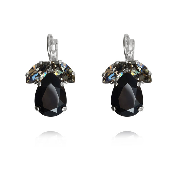 Timo Earrings / Jet + Black Diamond