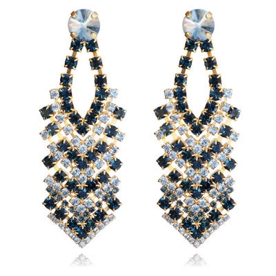 Zoe Earrings / Blue Shade + Montana