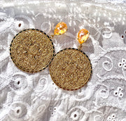 Alexandra Earrings / Peach Delite