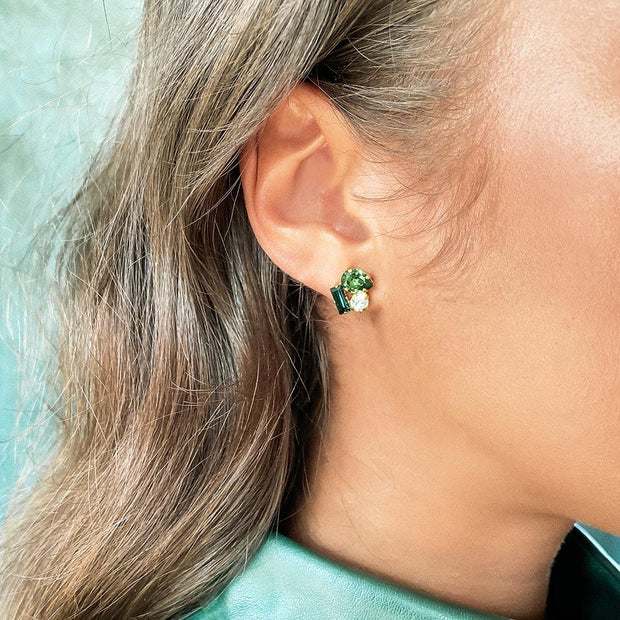 Isa Earrings / Green Combo