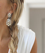 Celena Earrings / Crystal + Silk