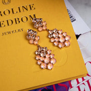 Celena Earrings / Light Peach + Peach Delite