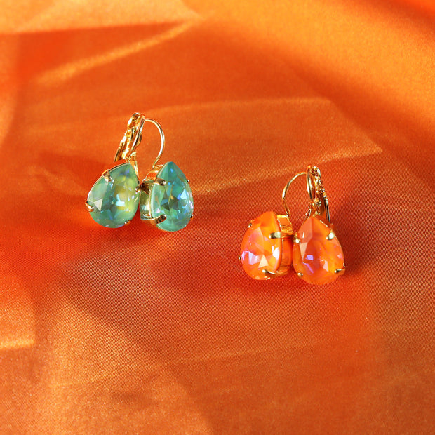 Mini Drop Clasp Earring / Orange Glow Delite