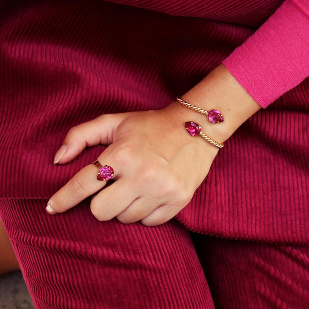 Mini Drop Ring / Fuchsia