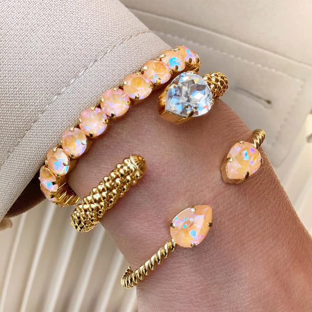 Gia Stretch Bracelet / Peach DeLite