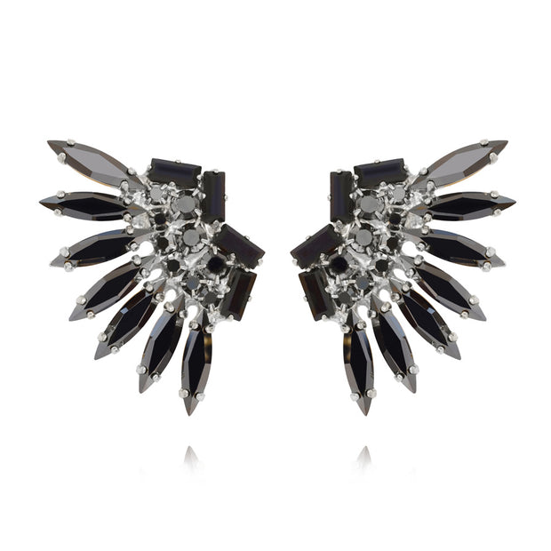 Indian Feather Earcuffs / Hematite