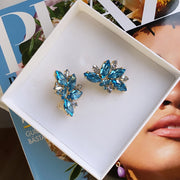 Iris Earcuffs / Aquamarine + Blue Shade