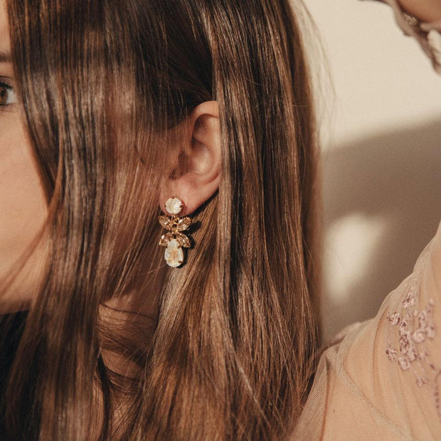 Mini Dione Earrings / Light Delite + Silk