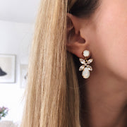 Mini Dione Earrings / White Opal