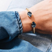 Mini Drop Bracelet / Denim Blue