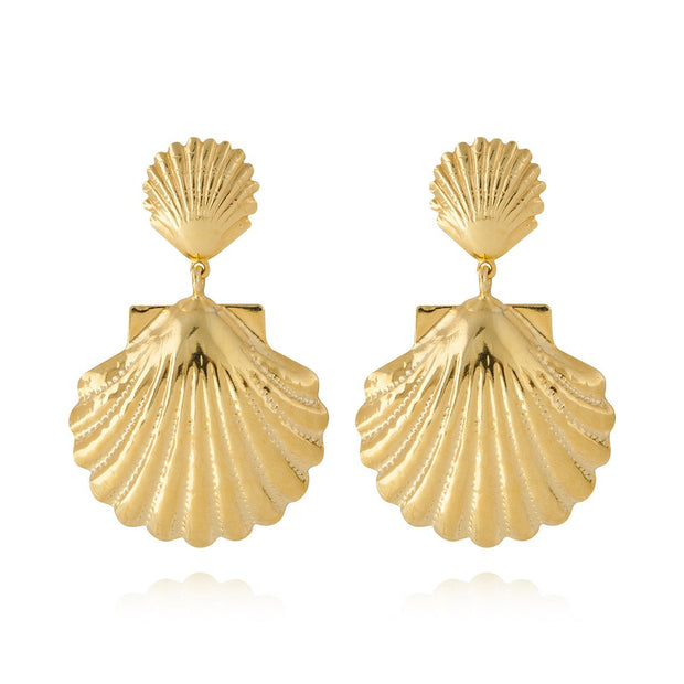 Caroline Svedbom - Shell Mermaid Earrings