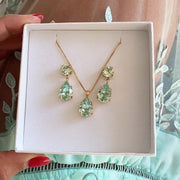 Mini Drop Necklace / Chrysolite