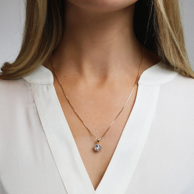 Classic Petite Necklace / Crystal