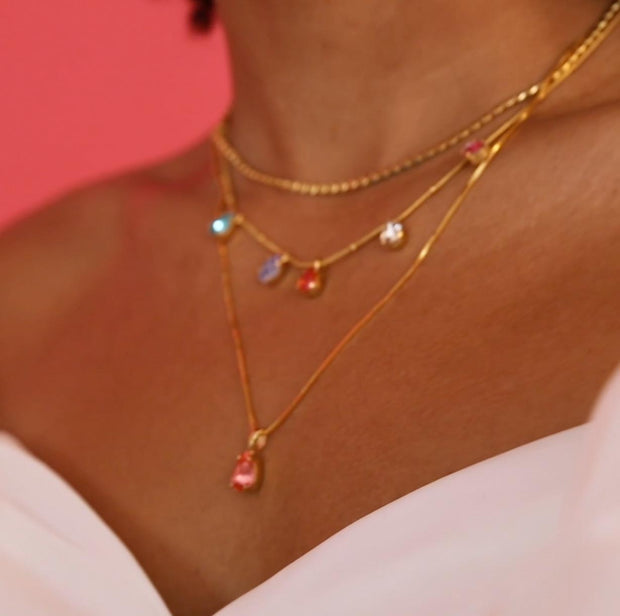 Estelle Necklace / Rainbow Combo