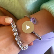 Gia Stretch Bracelet / Crystal