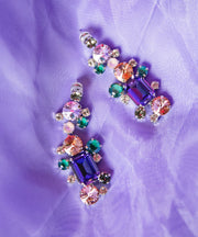 Noora Earring / Purple and Green Combo