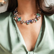 Noora Necklace / Purple and Green Combo