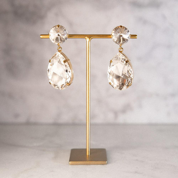 Perfect Drop Earrings / Crystal