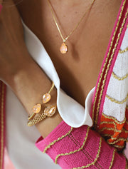 Mini Drop Necklace / Peach Delite