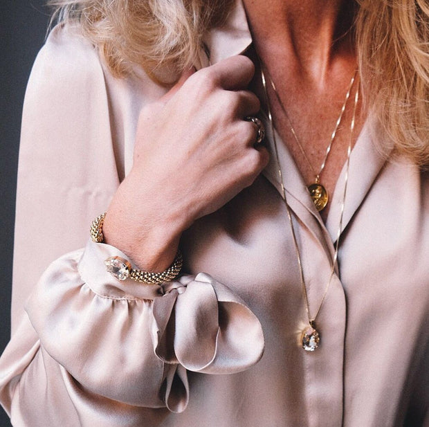 Classic Drop Necklace / Silk
