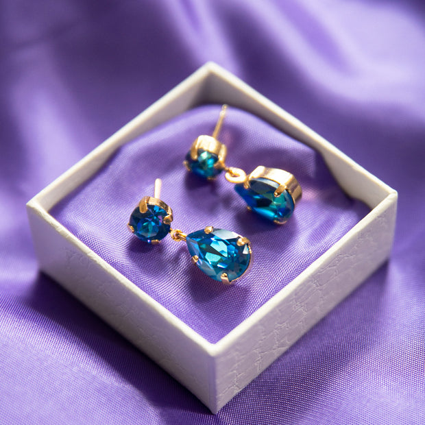 Mini Drop Earrings / Royal Blue Delite