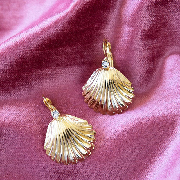 Shell Clasp Earrings