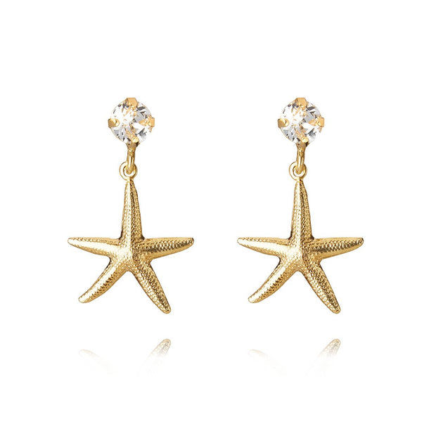 Caroline Svedbom - Starfish Earrings with Swarovski Crystal