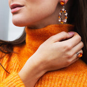 Delia Earrings / Tangerine + Light Peach