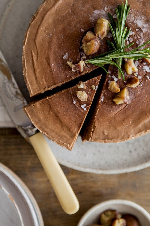 Chocolate, Chestnut and Rosemary Torte