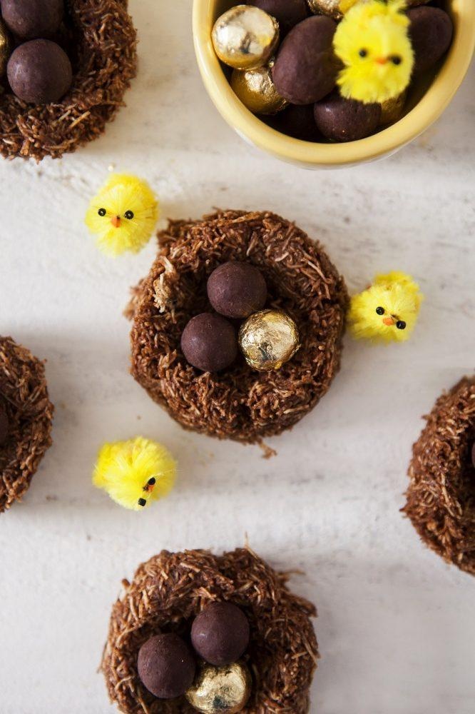 Salted Caramel Raw Chocolate Easter Nests